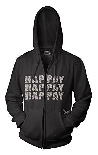 Felpa Up Cappuccio Duck Zip Hap Black Con pay Dynasty PwYXw8f