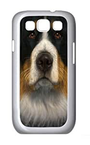 Samsung Galaxy I9300 Case and Cover -Bernese Mountain Dog Face Polycarbonate Hard Case Back Cover for Samsung Galaxy S3/I9300 White