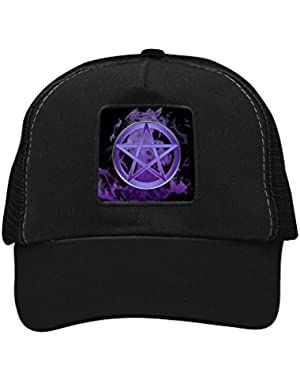 Unisex Magic Five Star Mark Trucker Hat Adjustable Mesh Cap