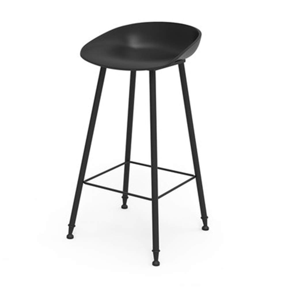 H Bar Chair Iron Art High Stool Simple Creative Reception Chair Household Dining Chair 9 colors 1 Size (color   F)