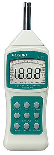 Extech 407750 Sound Level Meter with Background Sound Absorber by Extech
