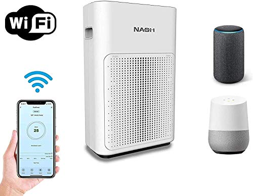 NASH Smart WiFi Air Purifier, Voice Control Directly by Phone or Smart Speaker, CADR 200 for Large Rooms up to 350sqft…