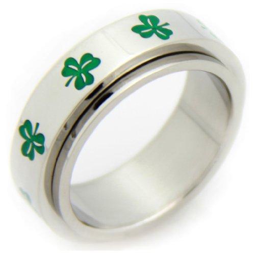 Irish Clover Spinner Ring/ luck of the irish / clover / clover ring / irish green