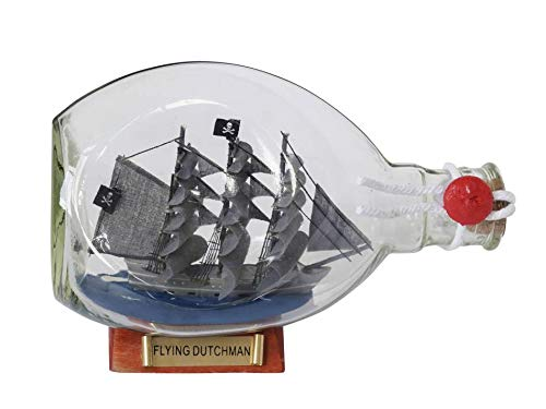 - Hampton Nautical Flying Dutchman Pirate Ship in a Glass Bottle 7