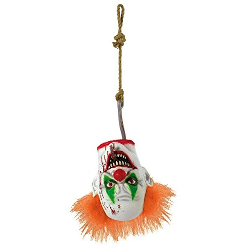 AMSCAN Creepy Carnival Hanging Clown Head Halloween Decorations and Props, For Indoor or Outdoor Use -
