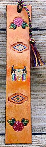 southwestern-boho-genuine-leather-bookmark