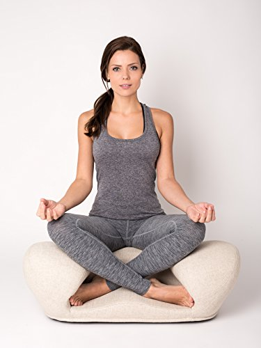 - Alexia Meditation Seat Ergonimically Correct for The Human Physiology Zen Yoga Ergonomic Chair Foam Cushion Home or Office (Sand Fabric)