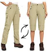 Women's Hiking Pants Convertible Quick Dry Stretch Tactical Lightweight Zip-Off Outdoor Fishing T...