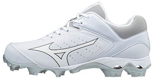 Fastpitch Womens Cleats (Mizuno Women's 9-Spike Advanced Finch Elite 3 Molded Fastpitch Softball Cleats - White (Women's Size 7.5))