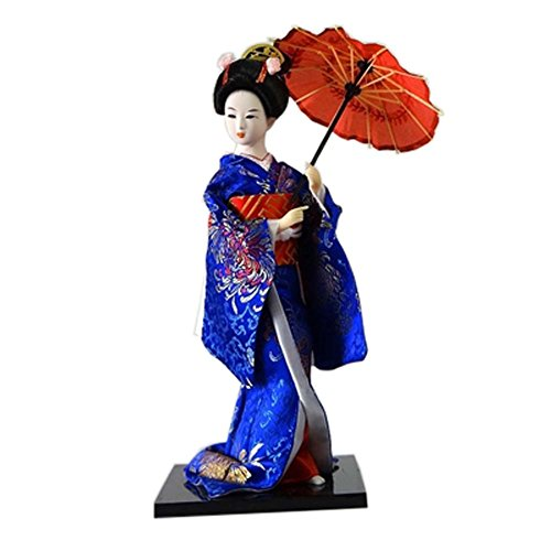 FANCY PUMPKIN Japanese Dolls Geisha Girl Geiko Kimono Doll Home Decoration Art Collection, E-23