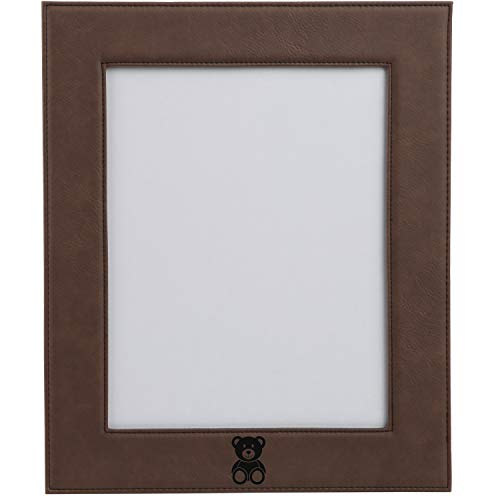 (Modern Goods Shop Teddy Bear Engraved Leather Personalized Gift Photo Frame)