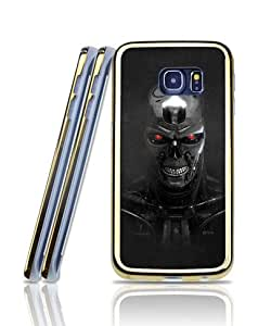 Samsung Galaxy S6 Edge Funda Case, Terminator Genisys - Film [2 in 1] Scratch Resistant Golden Bordered Fantastic Design Exclusive + Creative Protective Back Funda Case [Only Fit For S6 Edge]