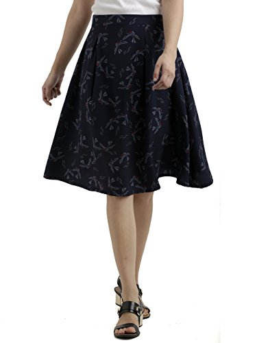 Miss Chase Women's Crepe a-line Skirt
