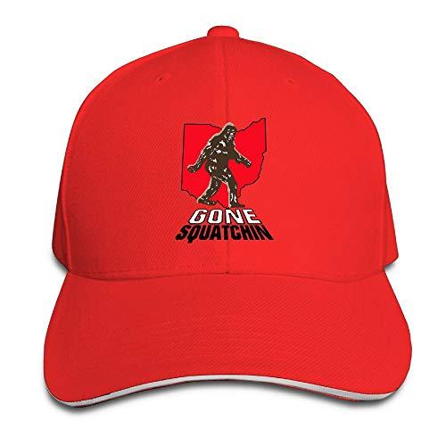 GENZHESI Bigfoot Gone Squatchin (Ohio) Adjustable Baseball Hat Dad Hats Trucker Hat Sandwich Cap