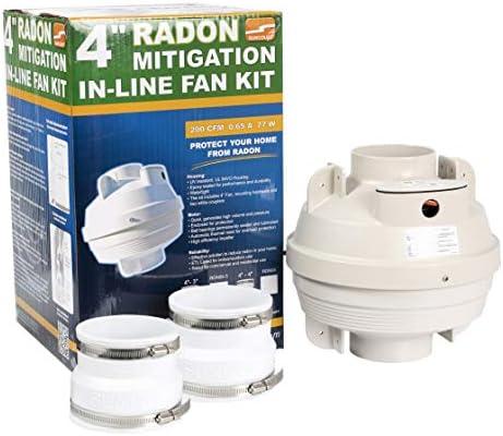 Suncourt RDN04-3 Centrax Radon Mitigation Fan Kit 4 -3 Couplers