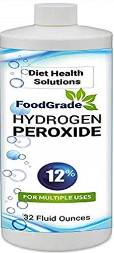 12% Food Grade Hydrogen Peroxide 32oz ~ 4 Times Stronger Than Similar Cleaning Products 3 Times Safer Than 35 Percent HP - Diet Health Solutions ~ Sanitize & Deodorize Multi-Purpose Natural Oxidizer