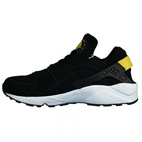 Nike Mens Air Huarache Black Tour Yellow Suede Trainer