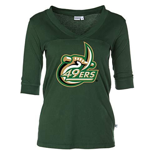 Official NCAA Charlotte Forty-Niners - Women's 3/4 Sleeve Football -