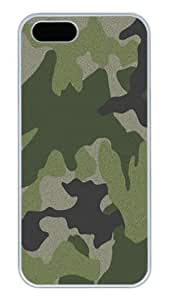 iPhone 5S Cases and Covers,Green Camo Custom Slim Hard Case Snap-on PC Plastic Case Cover Shell for Apple iPhone 5S/5 White