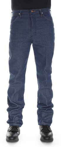 Smith Short Denim Pant - Wrangler Men's 13MWZ Cowboy Cut Original Fit Jean, Rigid Indigo, 34W x 36L