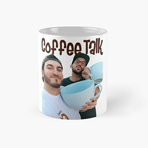 coffee talk z&h Mug, youtube Funny Mugs, 11 Ounce Ceramic Mug, Perfect Novelty Gift Mug, Tea Cups, Funny Coffee Mug 11oz, Tea Mugs ()