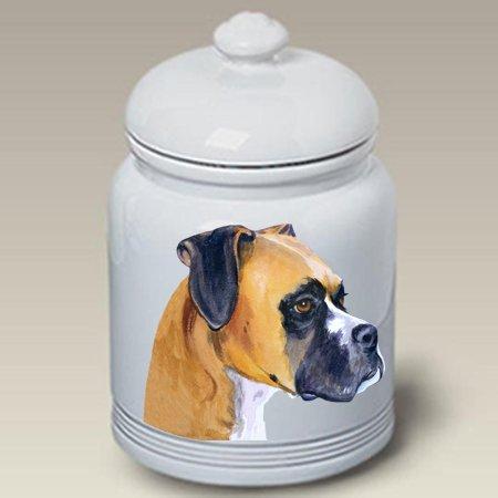 (Best of Breed Boxer Fawn Cropped - Barbara Van Vliet Ceramic Treat Jars)