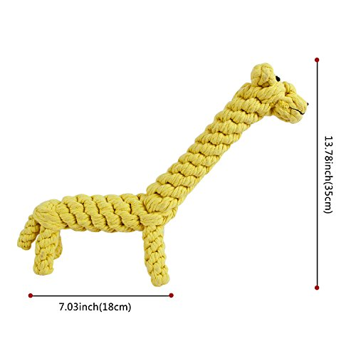 GOCooper Giraffe Puppy Chew Dog Toys Cotton Dental Teaser Rope Teeth Cleanning Toy, Large