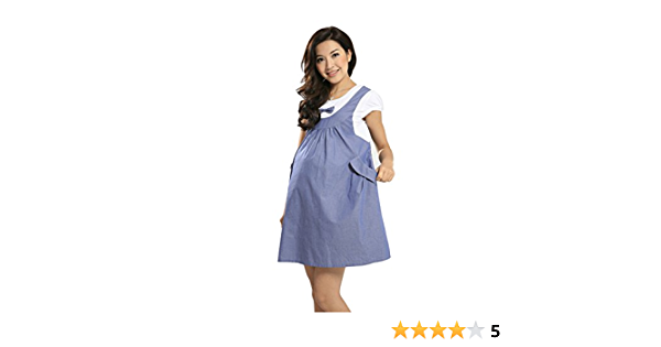 Amazon Com Gaorui Summer Maternity Dress Bow Knot Clothes For Pregnant Women Faketwo Piece Cotton Blue Fashion Sneakers