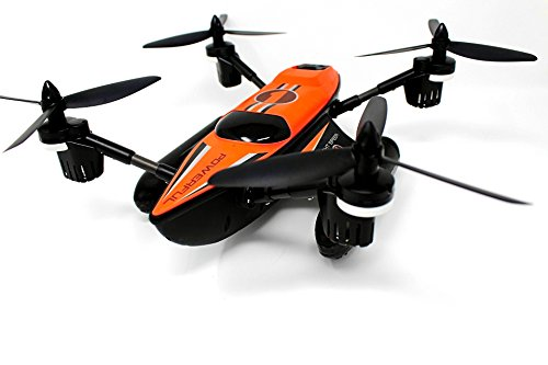 Triphibian Quadcopter Drone- Waterproof Land, Sea, and Air ,2.4G 6-Axis Gyro,RC Fuctions and ONE key Return and Headless Mode RTF -For Flight Water skiing and ground racing