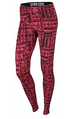 Nike Leg-A-See Logo Leggings Women's Ember Glow/Black Size M