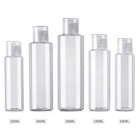 e30d3818fe78 Amazon.com : Qinlee Women's Transparent Flat Shoulder Plastic Bottle ...
