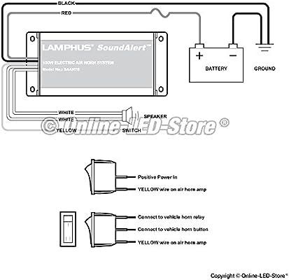 lamphus soundalert saah75 100w electronic air horn amplifier for trucks cars