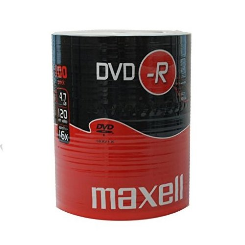 MAXELL DVD-R Blank Recordable Digital Disc DVDR 4.7GB 16x SPEED 120mins 100 Pack