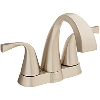 Moen 84660srn Oxby Centerset Bathroom Faucet Spot Resist Brushed Nickel