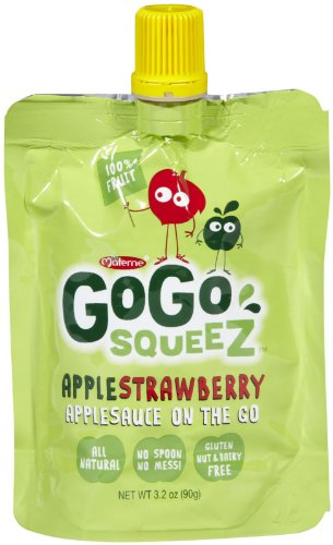 GoGo Squeez Applesauce On the Go Apple Strawberry - 4 CT from GoGo SqueeZ