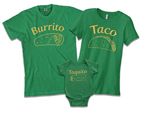 Threadrock Taquito | Baby Son or Daughter Infant Bodysuit | 6 Months, Kelly