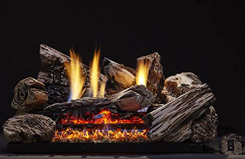 Monessen Moxie Ventless Gas Logs - Remote Ready - 24 inch - Natural Gas