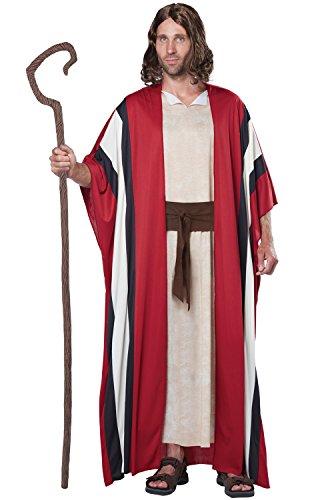California Costumes Men's Shepherd Moses Adult Costume, Red/Tan, Small/Medium (2)