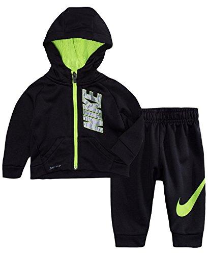 Kids Island Hoodie - Nike Baby Boys 2-Pc. Therma Hoodie & Jogger Pants Set (Black, 18 Months)
