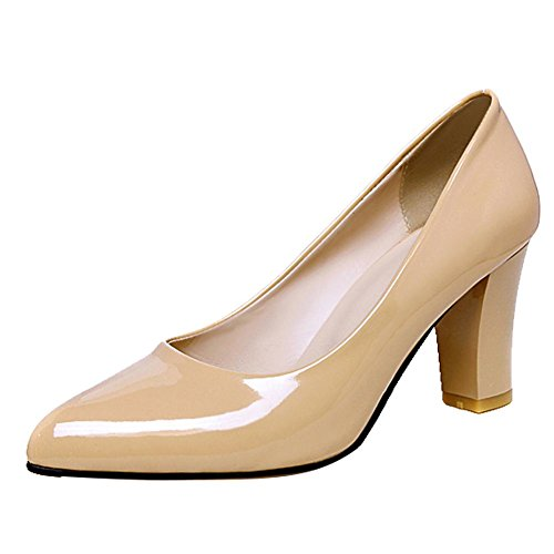 Punta Charm Slip Mee High albaricoque Shoes On corte Heel Zapatos estrecha de EqwYE5