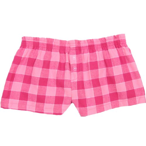 Hot Pink Checks Flannel Boxer Shorts , (Flannel Kids Shorts)