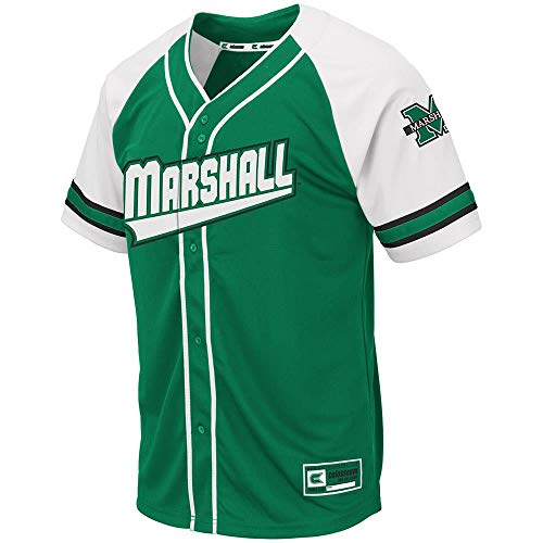 (Colosseum Mens Marshall Thundering Herd Wallis Baseball Jersey -)