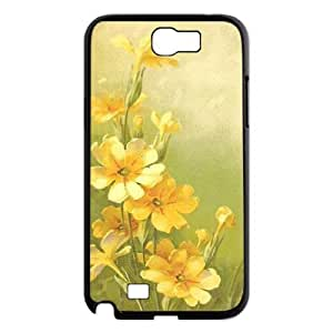 Vintage Flower Watercolor Personalized Cover Case for Samsung Galaxy Note 2 N7100,customized phone case ygtg586259