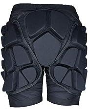 AUEDC Pantalones Cortos Protectores, Pantalones Antideslizantes Gruesos Almohadilla Protectora a Tope Pañal de esquí para Patinaje sobre Snowboard Esquí Protección de Deportes al Aire Libre