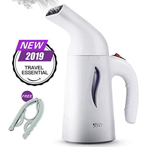 (JSD Steamer for Clothes, 7 in 1 Travel Garment Steamers, 150ml Powerful Handheld Fabric Steamer with High Capacity for Home and Travel, Travel Pouch Included [Updated)