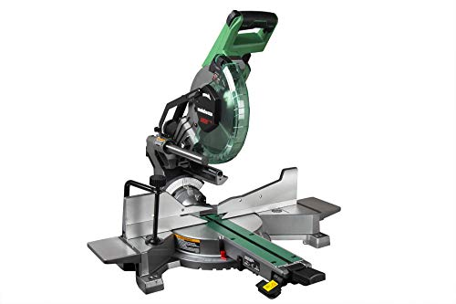 """Metabo HPT C10FSHC 10"""" Sliding Dual Compound Miter Saw with"""