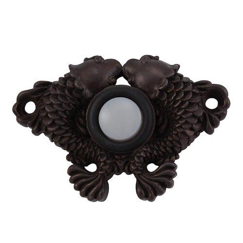 Vicenza Designs D4005 Pollino Koi Style Doorbell, Oil-Rubbed Bronze