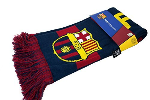 FC Barcelona Authentic Official Licensed Soccer Scarf (Blue)