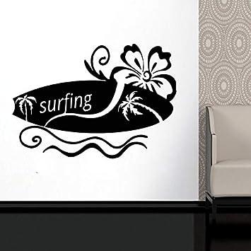 Surf, Palmera, Logotipo, Vinilo, Tatuajes De Pared, Deportes ...