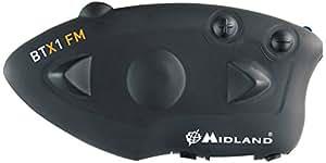 Midland BTX1 FM - motorcycle intercoms (3.0, Negro, CE, FCC, Litio, 12h)